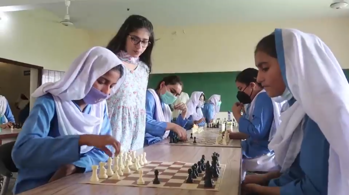Maleeha is Now Teaching Chess In Her Own School