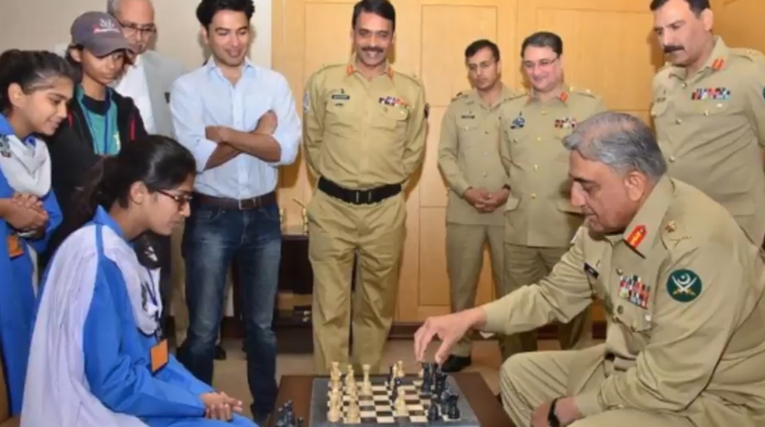 Maleeha Playing Chess With Pak Army Chief